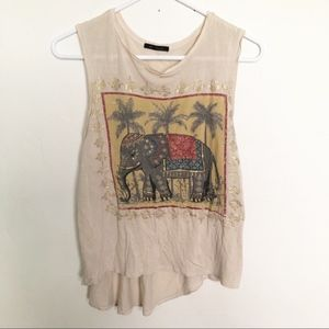 The classic | elephant high low tank top